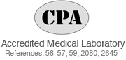 CPA Accredited Medical Laboratory Reference number 2645